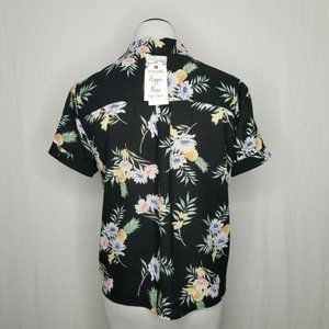 Hippie Rose Tops - Hippie Rose Floral Pineapple Tropical Tie-Front